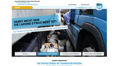 Screenshot: fairtransporteurope.de