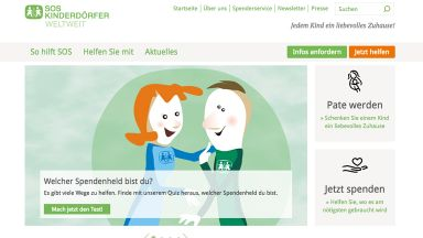 Screenshot: SOS Spendenquiz