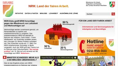 Screenshot: landderfairenarbeit.nrw.de